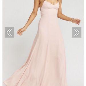 Show me your mumu  blush bridesmaid dress